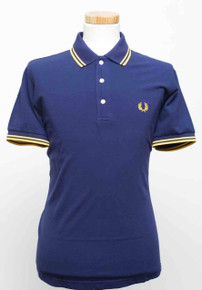 Japanese Twin Tipped Polo - French Navy / Maize