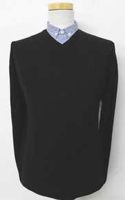 Cotton V-Neck Sweater - Black