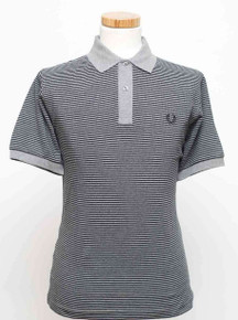 Fine Stripe Polo - Grey / Black