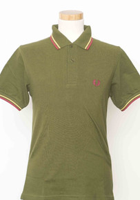 Original Twin Tipped Polo Shirt - Capulet Olive / Red / Maize