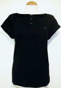 Shirt with Satin Collar - Black