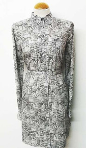 Liberty Print Shirt Dress - Grey Tint