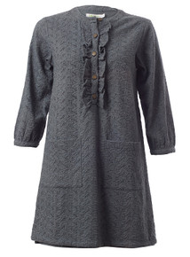 So Chic Tunic Shirt - Dove Grey