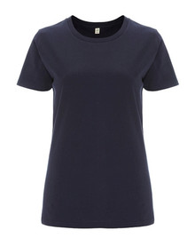 Organic T Shirt (Womens) -Navy Blue