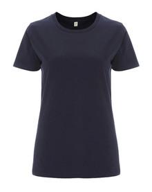 Organic T Shirt (Womens) - Navy Blue