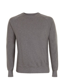 Organic Raglan Sweatshirt - Dark Heather