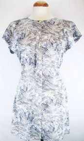 Poplin Shirt Tunic - Night Flower