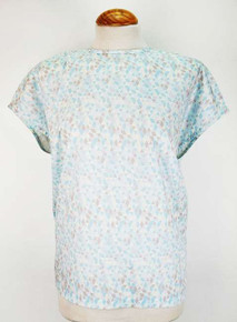 Sleeveless Organic Top - Mint Print