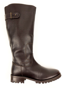 Knee Length Boots - Dark Brown (Thick Tread)