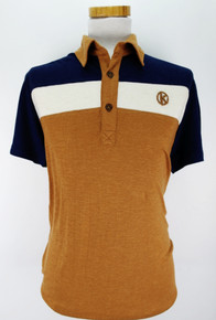 Tricolore S / Sleeved Polo - Tan