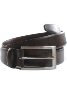 3cm Belt - Dark Brown / Silver colour buckle