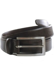3cm Belt - Dark Brown / Silver colour buckle