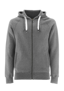 Unisex Organic Zip Up Hoody - Melange Grey