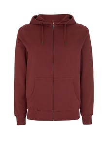 Unisex Organic Zip Up Hoody - Claret Red