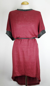 Oversized Tunic - Plum Red