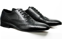 City Wingtip Brogue - Black