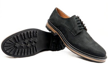 Continental Derby - Black Faux Suede