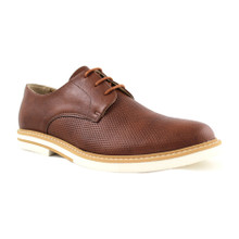 Perforated Derby - Tan Brown