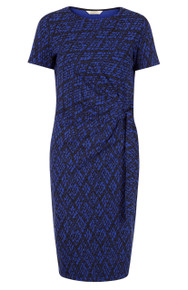 Elsa Dress - Blue / Black Print