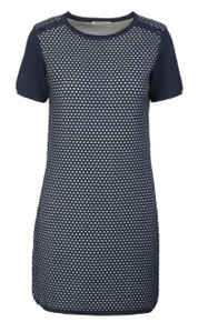 Kassia Knitted Dress - Navy / White