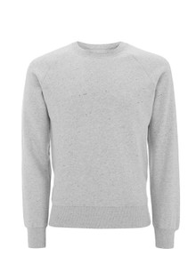 Organic Raglan Sweatshirt - Light Grey Marl