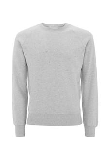 Organic Raglan Sweatshirt - Light Grey Marl