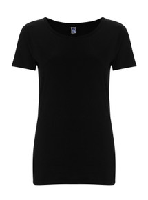 Fairtrade Organic Scoop T (Womens) - Black