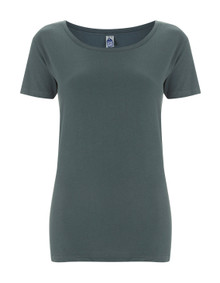 Fairtrade Organic Scoop T (Womens) - Charcoal