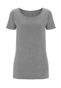 Fairtrade Organic Scoop T (Womens) - Melange Grey