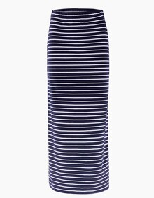 Elin Striped Skirt - Navy / Off White