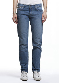 Mud Fave Straight Organic Jeans - Heavy Stone