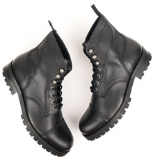 Womens Work Boots (Thick Tread) - Black
