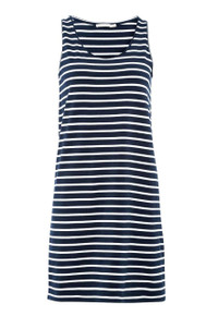 Peri Classic Stripe Dress - Navy / Off White