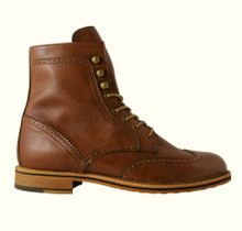 Brogue Boots - Tan