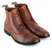 Vegetarian Shoes Vegan Aubrey Boot - Tan Brown