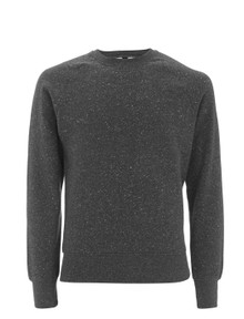 Organic Raglan Sweatshirt - Black Twist