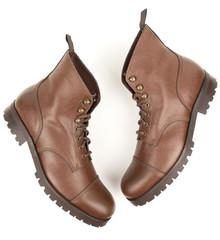 Wills Vegan Womens Work Boots (Thick Tread) - Chestnut