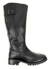 Knee Length Boots (Thick Tread) - Black
