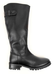 Wills Vegan Knee Length Boots (Thick Tread) - Black