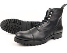 Wills Vegan Work Boots (Thick Tread) - Black