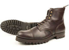 Work Boots (Thick Tread) - Dark Brown