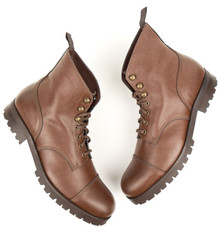 Work Boots (Thick Tread) - Chestnut