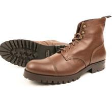 Wills Vegan Work Boots (Thick Tread) - Chestnut