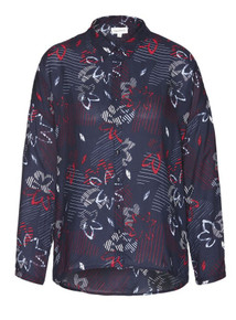 Kaja Flower Shirt - Navy