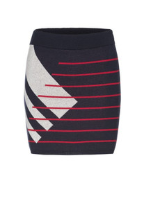 Beke Skirt - Navy / Red