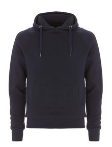 Organic Fairtrade Pullover Hoody - Navy