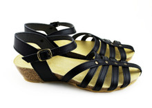 Cretense Low Wedge - Black