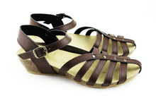 Cretense Low Wedge - Brown