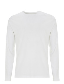 Organic Long Sleeve T Shirt - White