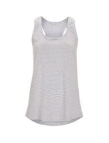 Organic Racerback Vest - Melange Grey Stripe